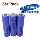 3x Samsung INR18650-29E Akku mit 2900mAh 3.7V. Das Kraftpaket ideal für e-Bike, e-Zigaretten, RC-Modellbau Batterien und Powertool