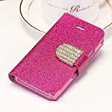 COOLCASE Popular Crystal Diamond Glitter Bling Flip Wallet Stand Case Cover 6 Colors For Iphone 5C