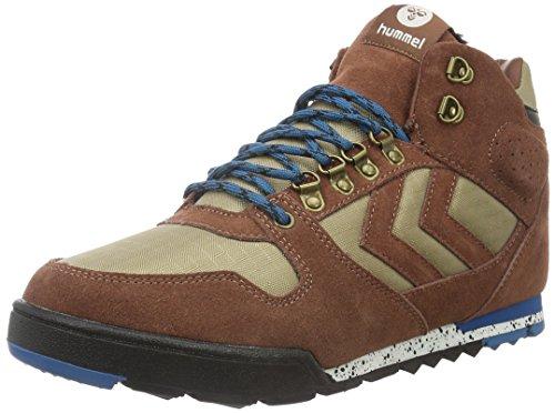 NORDIC ROOTS FOREST BOOT (hohe Sneakers), Outdoor Herrensneakers, Wildleder Sneakers aus Wildleder, mit Schnürung, gepolsterte Ferse, SPORTLICHE FREIZEITSCHUHE Braun (Friar Brown)