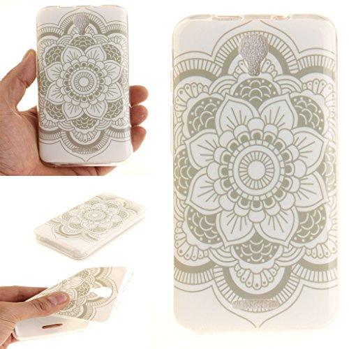 """case cover para Alcatel Pixi 4 3G 5010D (5""""),Crisant blanco Hualien Diseño Protección suave TPU Gel silicona Teléfono Celular Back funda Carcasa para Alcatel Pixi 4 3G 5010D (5"""")"""
