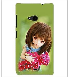 PrintDhaba Beautiful Doll D-1073 Back Case Cover for MICROSOFT LUMIA 535 (Multi-Coloured)