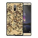 WoowCase Lenovo Phab 2 Plus Hülle, Handyhülle Silikon für [ Lenovo Phab 2 Plus ] Militärische Tarnungsbeige Handytasche Handy Cover Case Schutzhülle Flexible TPU - Schwarz
