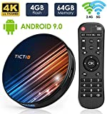 Android TV Box 9.0 TICTID R8 Pro 4GB DDR3 + 64GB EMCC, RK3318 Quad-Core 64-Bit, Dual WiFi 2.4G / 5GHz, 100M LAN, USB 3.0,BT 4.0, 4K Android TV