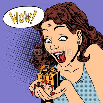 leinwand-bild-20-x-20-cm-woman-glad-gift-wow-pop-art-comics-retro-style-halftone-bild-auf-leinwand