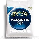 Martin SP Gitarrensaiten für Akustikgitarren (80/20, Bronzeumwicklung, Stärke Medium 0.013-0.056)
