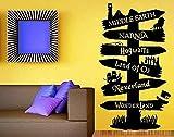 Tatuajes de pared Vinilo Adhesivo Libro de cuentos Poste indicador Fandom Señor del anillo Narnia Peter Pan Tipografía Murales de puerta 57 * 101Cm