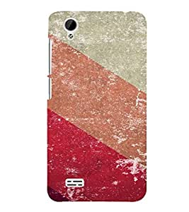 PrintVisa Colorful Stripes Pattern 3D Hard Polycarbonate Designer Back Case Cover for VivoY31L