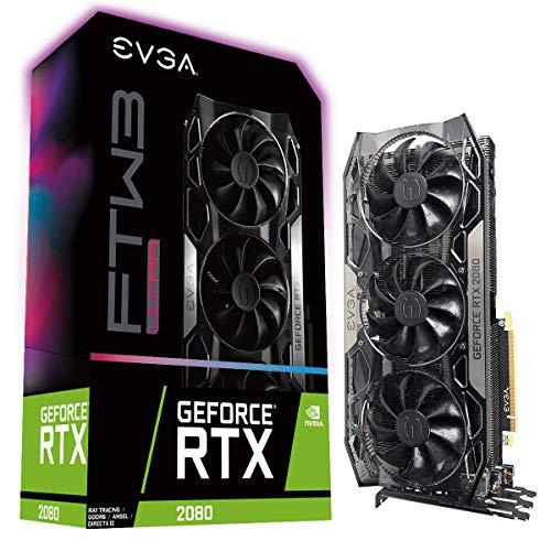 EVGA GeForce RTX 2080 FTW3 Ultra Gaming, 8GB GDDR6, Tecnologia iCX2, RGB LED, Blackplate de Metal, Placa de Vídeo 08G-P4-2287-KR