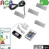 4x RGB-CLIPS als Glaskantenbeleuchtung + RGB-Controller + LED Trafo - Komplett (4 RGB-CLIP + RGB-Controller + LED Trafo)