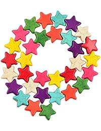 31pcs 15m M Howlite Estrellas Espaciador Perlas Sueltas Fabricacion De Joyas
