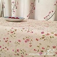 MEICHEN-Serie di idilliaco floreale piccolo lino e cotone stampato tovaglia