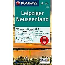 Leipziger Neuseenland: 4in1 Wanderkarte 1:50000 mit Aktiv Guide und Detailkarten inklusive Karte zur offline Verwendung in der KOMPASS-App. Fahrradfahren. (KOMPASS-Wanderkarten, Band 818)