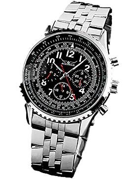 Gute Klassisch Herren Schwarz Analog Automatik Mechanisch Armbanduhr Datum