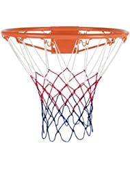 Rucanor - Canasta de baloncesto con red (45 cm), color naranja y blanco