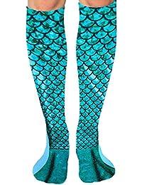 a896bc07941 Fantastic Mermaid Tail Women Lady Girl Knee High Boot Socks Long Soft Socks  Gift
