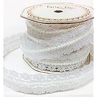 pretty nice b85f7 8c04f Brautband Elfenbeinfarbene Spitze mit Perlen Meterware Dies ...