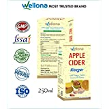 Wellona Apple Cider Vinegar With Mother Vinegar And Ginger, Garlic, Lemon For Weight Loss, Skin Care & Hair Growth...