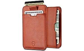 Portacarte Vaultskin CHELSEA con protezione da RFID, in pelle italiana di alta qualità, ultra sottile, contiene fino a 10 tessere
