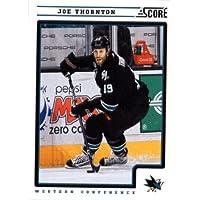 2012/13 Score NHL Hockey Card # 386 Joe Thornton San Jose Sharks