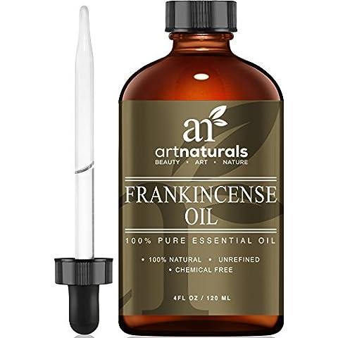 Art Naturals Aceite De Incienso. Tamaño Grande 120 ml. De Grado Terapéutico, Sin Diluir, Y 100 % Puro Y Natural. El Mejor Aceite De Calidad Superior.