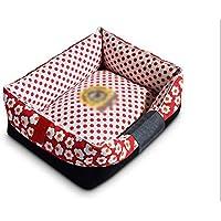 Cama de perro, Tela Oxford Duradera, Funda Lavable, cómodo cojín Interno, Cama
