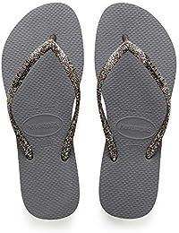 d3b66b11b Amazon.co.uk  Grey - Flip Flops   Thongs   Women s Shoes  Shoes   Bags