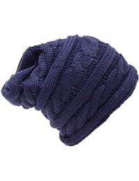 Kandharis Damen Strickmütze Wintermütze Long Beanie in verschiedenen Farben Zopfmuster