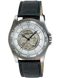 August Steiner Buffalo níquel coleccionistas Moneda Redonda de los hombres reloj