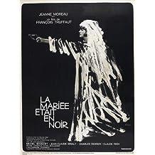 The Bride Wore negro Póster de película French C 11x 17en–28cm x 44cm Jeanne Moreau Claude Rich Jean-Claude Brialy Michel ramo Michael (Michel) Lonsdale Charles Denner
