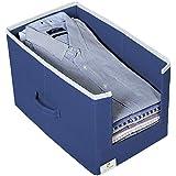 HomeStrap Non Woven Shirt Stacker/Shirt Organizer Wardrobe Organizer- Navy Blue- Pack of 1