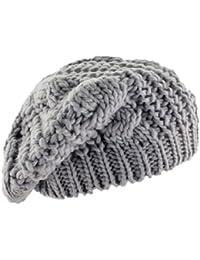 3adf23896e9 BONAMART TM Fashion Women Beret Braided Baggy Beanie Crochet Knitting Warm  Winter Wool Hat Ski Cap