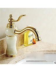 pengweiCuivre monotrou robinet salle de bains continentaux chauds et froids évier robinets salle de bains sanitaires