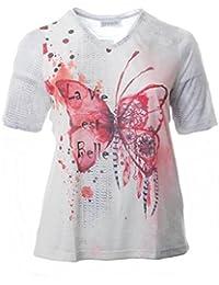 84c72fc2c4dbb4 Chalou Sommer Kurzarm T-Shirt für Damen in Großen Größen mit Schmetterling  ...