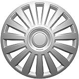 """VERSACO 244350 - Set de tapacubos, color plata, 14"""""""