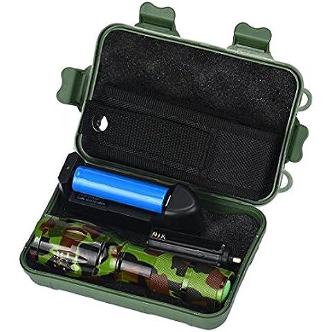 Mini LED Torcia - Kingwo Super Bright torcia 1000LM X800 Tactical Flashlight LED Zoom militare torcia G700 Adjustavle Focus Adatto a partire escursionismo, ciclismo, campeggio e altri sport all'aria aperta (A)
