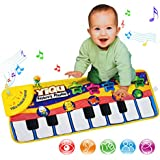 ColorMixs Keyboard Musical Piano Dancing Mat Crawl Mat Soft Funny Animals Baby Toy Blanket Touch Play Learn Singing Gift Carpet Kids Baby Piano Toy (Piano Mat)