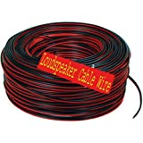 Crispy Deals 100m Red&Black Dual Line Speaker Cable Roll for Home Theater and Audio Systems