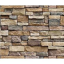 Pegatinas de Pared Ladrillo Piedra Efecto rústico Etiqueta de la Pared autoadhesiva 45 * 45 cm