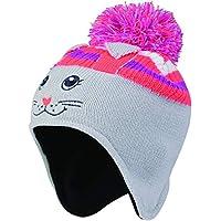 Dare 2b Watch out II Beanie Fleece Lined Kids Hat Accesorio para la Cabeza, Infantil, Cyberspace Grey (Rabbit), Size 7-10