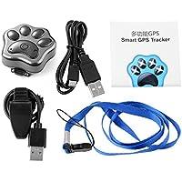 XCSOURCE Collana impermeabile GPS intelligente WiFi Pet Tracker dispositivo di gatto del cane di monitoraggio in tempo reale Collare con LED nero OS703