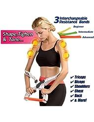 Wonder Arms, Appareils bras Entraînement Équipement Avant bras Exerciceur, Arm Upper Body Workout Machine avec 3 bandes de résistance Blanc