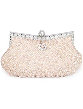 HONGCI Glitter Faux Perle Perlen Braut Handtasche Hochzeit Abend Band Rhinestone Embedded Frame Geldbörse