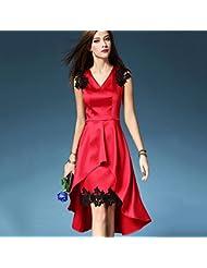 L'Europe Et Les Coutures Robe Mode Américaine Slim Était Mince Dans Le Long Chapitre De Dentelle De Coutures En Queue De Poisson