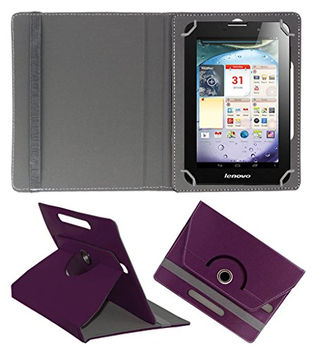 Acm Rotating 360° Leather Flip Case For Lenovo Ideapad A3000 Tablet Cover Stand Purple  available at amazon for Rs.149