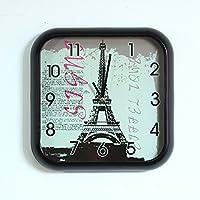 COLLECTOR Orologio a parete creativo grafico orologio al quarzo Orologio a muro di ferro orologi arte tecniche di metallo, la Torre