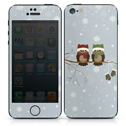 Apple iPhone SE Case Skin Sticker aus Vinyl-Folie Aufkleber Eule Uhu Eulen DesignSkins® glänzend