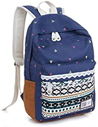 Womens Canvas Backpack School Bag Satchel Travel Tote Rucksack