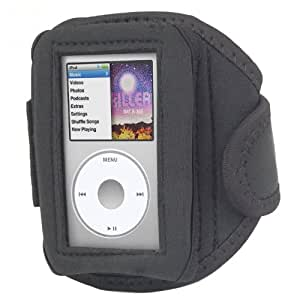 DIGIFLEX Black Neoprene Water Resistant Waterproof Sports Gym Jogging Running Riding Armband Case for Apple iPod Classic