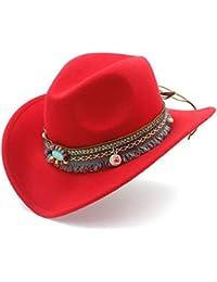 e4d86b8815dd6 Amazon.es  Rojo - Sombreros cowboy   Sombreros y gorras  Ropa