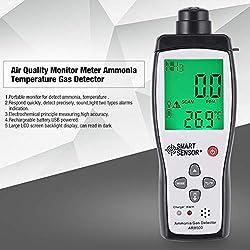 Monitor de Calidad del Aire Medidor de gas amoniaco Temperatura del detector del probador del analizador
